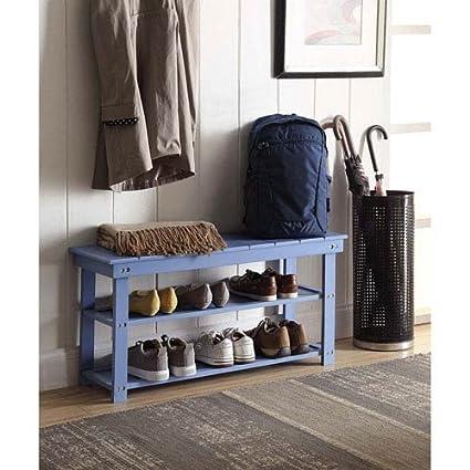 Superieur Convenience Concepts Oxford Utility Mudroom Bench, Blue