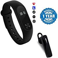 Moblios Activity Tracker Fitness Band with Heart Rate Monitor | Waterproof Sports Health Activity Fitness Tracker for All Android and iOS Smartphones