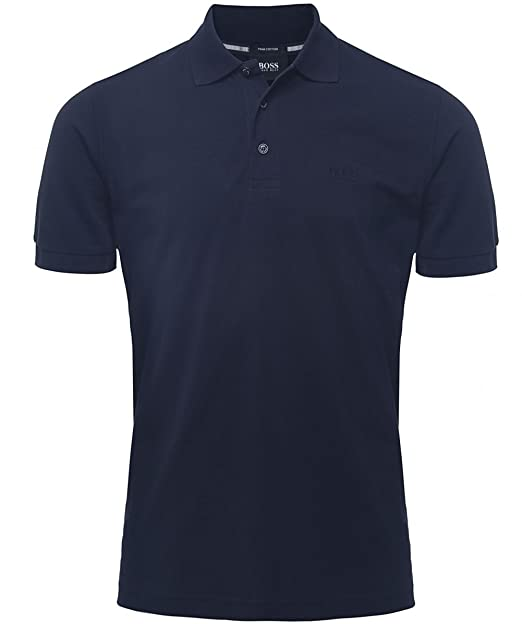 Hugo Boss Black Confort Fit polo de Ferrara Azul Oscuro S: Amazon ...