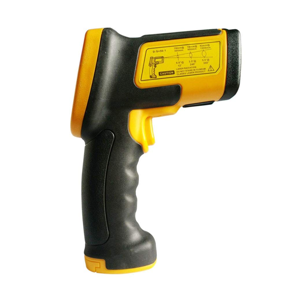 ALLCIAA Temperature Accuracy: ± 2 ° C Infrared Thermometer Handheld Industrial Temperature Gauge Handheld Infrared Thermometer Thermometer Tools Indoor Thermometer (Color : As picture)