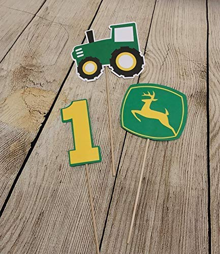 - John Deere Inspired Centerpiece Bundle - Tractor Centerpiece Bundle - John Deere Inspired Party Décor