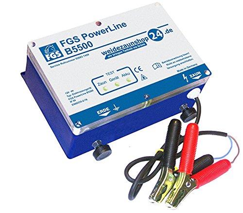 FGS Weidezaungerät Akkugerät Power Line B5500 12V 6,0J Zaunlänge bis 150km