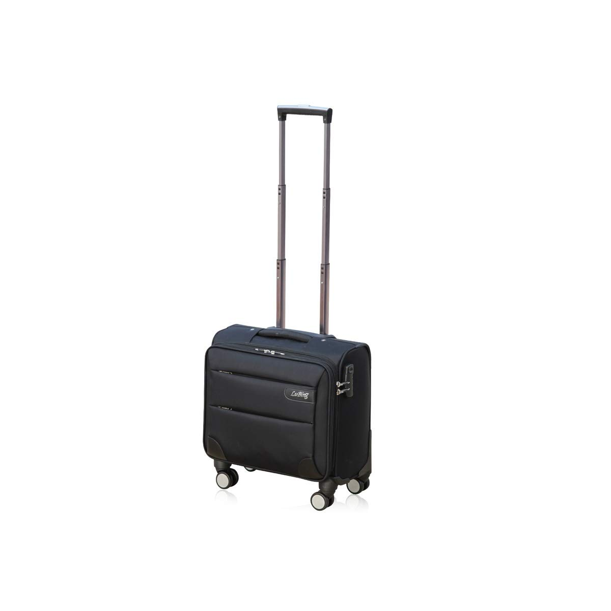 14//16//18//20 Inches 8haowenju Soft Rotating Luggage Carrying Luggage Trolley Case Travel Storage Box Best Gift Boarding Color : Black, Size : 16 inches