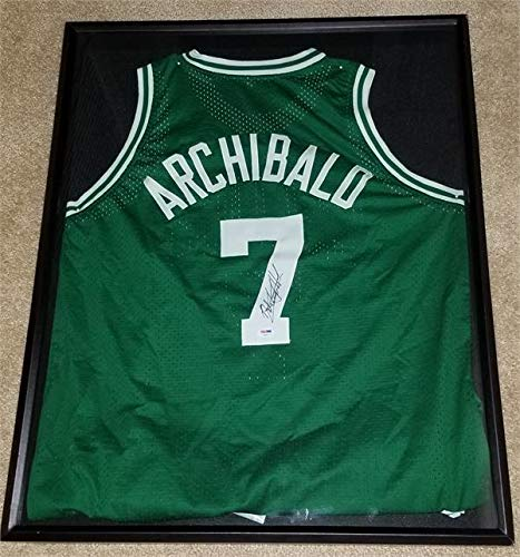 Archibald Basketball Autographed (Nate Archibald autographed Jersey (Boston Celtics Basketball Hall of Fame) in case)