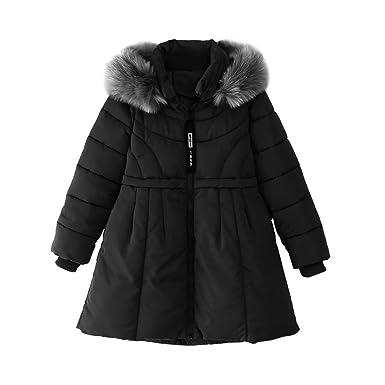 c4d7a20c3d74 Amazon.com  OCHENTA Girls  Winter Long Quilt Puffer Jacket with ...