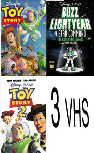 Of Buzz Lightyear Star Command (walt disney's pack 3 vhs: Buzz Lightyear of Star Command: The Adventure Begins, Toy Story 2 (1999), Toy Story (1995))