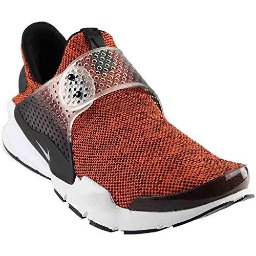 NIKE Sock Dart SE Men's Running Shoes Terra Orange/White-Black-White 911404-801 (10 D(M) - Orange Socks Nike Black