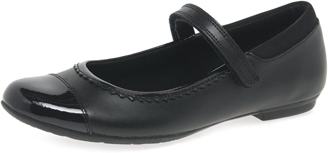Noroeste torneo Nunca  Clarks Tizz Ace Bootleg Girls School Shoes 6.5 H UK Black: Amazon.co.uk:  Shoes & Bags