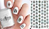 Day of the Dead Sugar Skull (Clear Water-Slide Nail Decals)