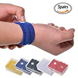 Brave Tour 5 Pairs of Travel Wristbands, Cotton Anti-Nausea Wristbands, Travel Car Sea Van Plane Motion Sickness Relief Wristbands