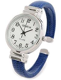 Blue Snake Style Band Slim Case Geneva Women's Bangle Cuff Watch