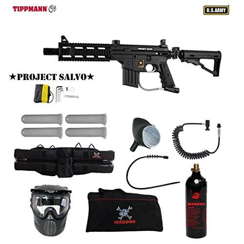 Adjustable Custom Sight 98 Rail (MAddog Tippmann U.S. Army Project Salvo Specialist Paintball Gun Package - Black)