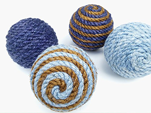 Small Sisal Rope Decorative Ball, Ornament, Natural or Dyed Sisal, Nautical Home Decor (Dyed Balls)
