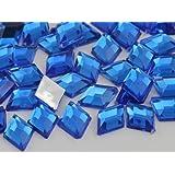 10x7mm Sapphire .PH Flat Back Diamond Acrylic Jewels High Quality Pro Grade - 100 Pieces