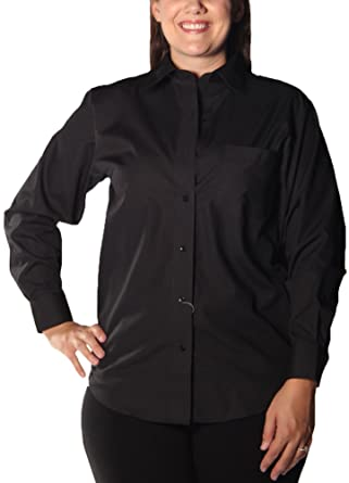 Foxcroft Wrinkle Free Solid Shirt, Classic Fit, Black, Misses ...