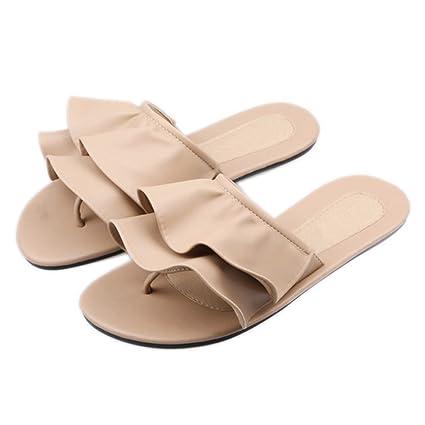 db56fe5d2668 Flip Flops Slip-On Sandal for Woman Girls Stylish Flat Heel Slipper Clip  Toe Thongs