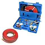 GHP Victor Type Gas #0 #2 #4 Nozzles Welding Tool Kit with 1/4''x25' Welding Hose