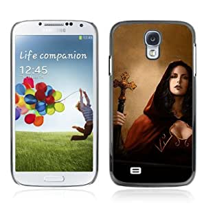 Designer Depo Hard Protection Case for Samsung Galaxy S4 / Goth Woman Priest Vampire