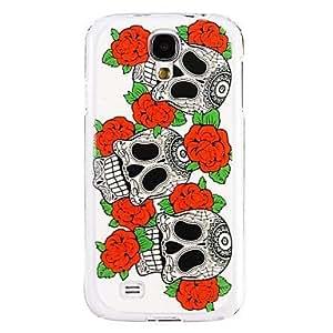 MOM Skull Flower Pattern Plastic Hard Case for Samsung Galaxy S4 I9500