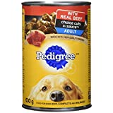 Pedigree Choice Cuts Canned Dog Food - Beef - 630g (12 Pack)