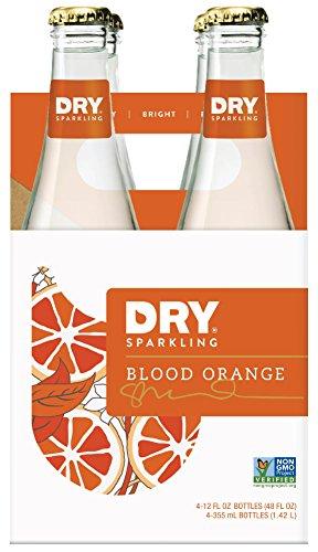 Soda Cane Sugar - DRY Sparkling Soda, Blood Orange, 12 oz Bottles (Pack of 4)