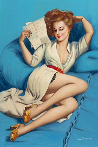 Gil Elvgren Giclee Canvas Print Paintings Poster Reproduction(Pin Up Girls 85) (Halloween History Documentary For Kids)