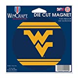 West Virginia Mountaineers Official NCAA 4.5 inch x 6 inch Car Magnet by Wincraft