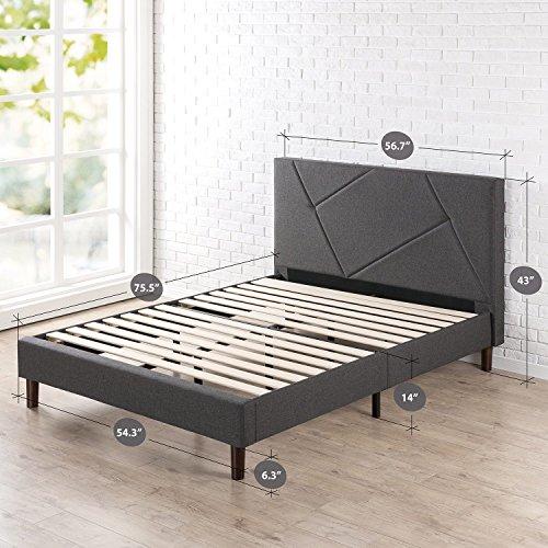Zinus FGPP-F Upholstered Platform Bed, Full