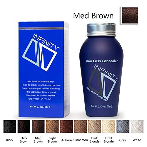 Infinity Hair Fibers, Medium Brown, - Timing Cover Infinity
