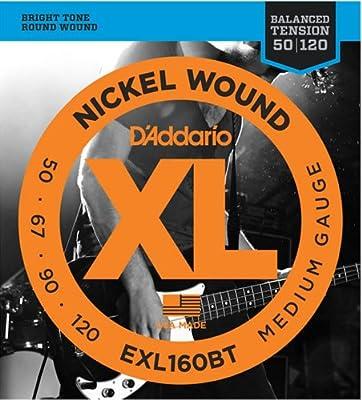 D'Addario EXL220BT Nickel Wound Bass Guitar Strings, Balanced Tension by DBHT9