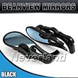 Maxry(TM) 2pcs Universal 8mm 10mm Motorcycle Rearview Rear View Side Mirror for Honda for Yamaha Black C10