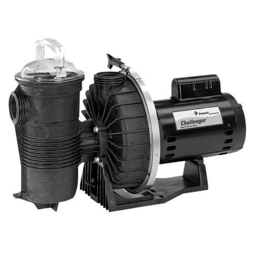 Pentair CFII-N1-1/2F Challenger Standard Efficiency Single Speed Full Rated High Flow Inground Pump, 1/2 (1/2 Hp Single Speed Pump)