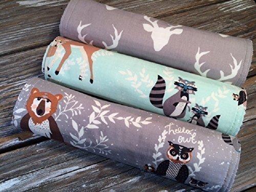 Woodland Burp Cloths Chenille Bib Burp Cloth