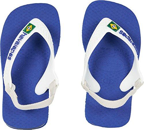 Havaianas Kids' Flip Flop Sandal, Brazil Logo Coral,Marine Blue,21 BR (7 M US (Brazil Flip Flop Sandals)