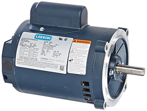 (Leeson E100054.00 General Purpose Drip-Proof C Face Motor, 1 Phase, S56C Frame, Round Mounting, 1/2HP, 3600 RPM, 115/230V Voltage, 60Hz Fequency)