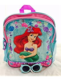 """Ariel Mermaid Toddler Backpack and Stickers Set, Backpack Size 12"""""""