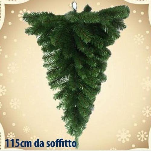 Albero Di Natale Al Contrario Foto.Albero Di Natale Da Soffitto 115cm Amazon It Casa E Cucina