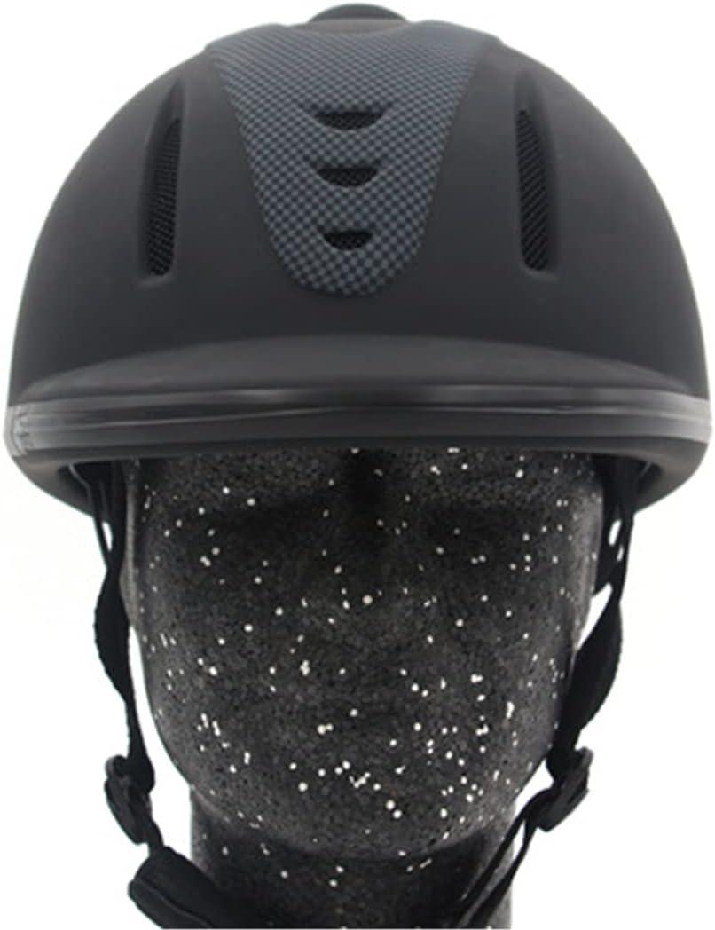 TMIL Casco de equitación, (52-62cm) Casco de Bicicleta Ajustable, Equipo de protección Protectora para Jinetes ecuestres, Casco de Seguridad ventilado y Transpirable - certificación CE,XL