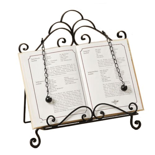 Book Holder Cookbook Holder Lectern Metal Black H33cm Unbekannt