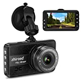 Dash Cam,1080P Car Camera DVR Dashboard 3' LCD Screen with 170°Wide Angle,G-Sensor, WDR, Parking Monitor, Loop Recording Motion Detection Car Driving Recorder (Black)