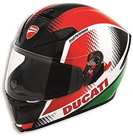 Amazon.com: Ducati Peak V3 Motorcycle Helmet by AGV Italian ...