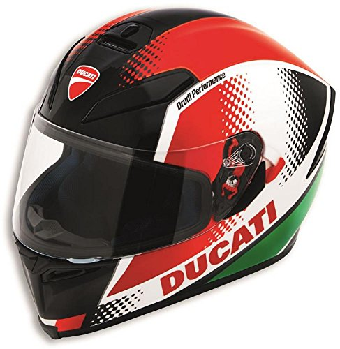 - Ducati Peak V3 Motorcycle Helmet by AGV Italian Flag Colors Medium
