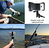 Action-Mount-GoPro-Style-Sportsmans-Mount-Head-Mount-Combo-Set-for-Smartphone-or-GoPro-Clamp-Attaches-to-Sports-Fishing-Rod-Bow-Shotgun-Rifle-Paintball-and-More-Operable-with-Any-Phone-Strong-Hold