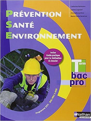 Livres gratuits Prévention Santé Environnement Tle Bac Pro pdf