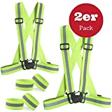 Best Reflective Vests - Reflective vest Set(2 Pack),SGODDE Lightweight Adjustable Elastic Safety Review