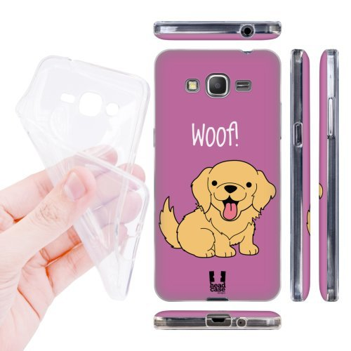 Head Case Designs Golden Retriever Happy Puppies Soft Gel Back Case Cover for Samsung Galaxy Grand Prime 3G 4G Duos LTE G530