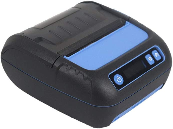 B07QCMYDVR Portable Bluetooth Receipt Printers Wireless Thermal Printer 80mm LCD Display Adjustable Parameter for iOS Android Windows Receipt and Label Printer 51WzWdYL64L.SL1000_