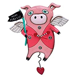 Allen Designs When Pigs Fly Pendulum Clock