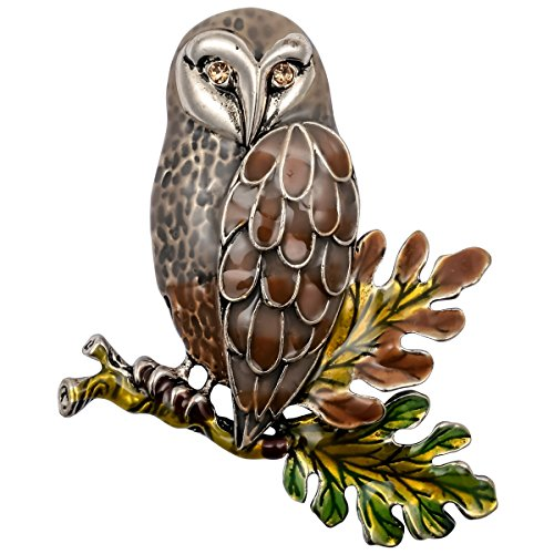 Owl Bird Brooch - Hiddeston Enamel Fleck Owl Brooch Pin Bird Accessories Costume Jewelry For Women Her