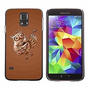 Shell-Star ( Funny Guitar Owl ) Fundas Cover Cubre Hard Case Cover para Samsung Galaxy S5 V SM-G900